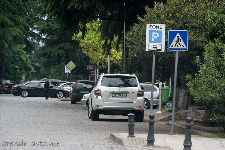 Платная городская парковка в Батуми