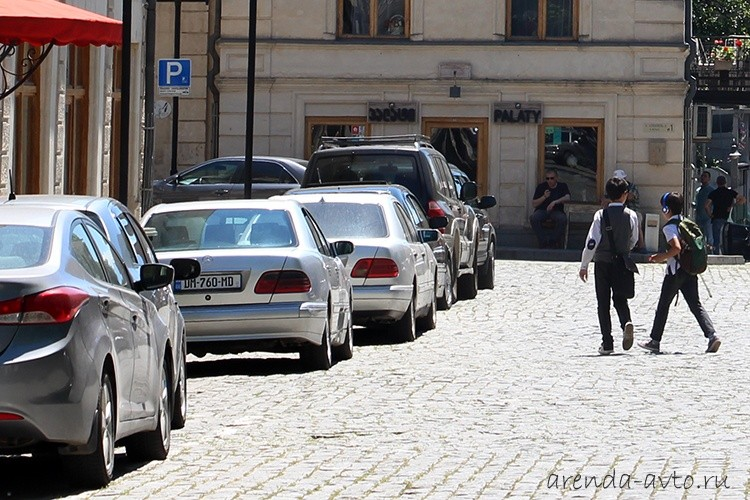 Платная городская парковка в Кутаиси