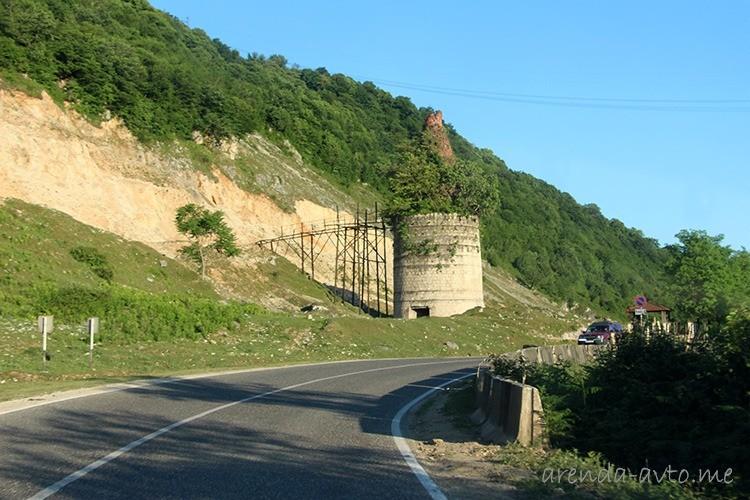 Дорога возле Мартвильских водопадов