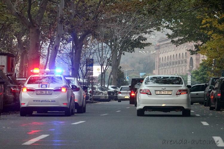 Дорожная полиция в Армении
